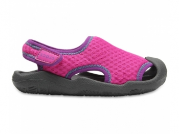 Crocs Kids Swiftwater Sandal neon mage..