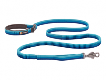 Ruffwear Roamer Bungee Dog Leash blue atoll