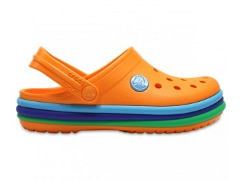 Crocs Kids Crocband Rainbow Band Clog bl orange