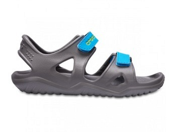 Crocs Kids Swiftwater River Sandal slate grey ocean