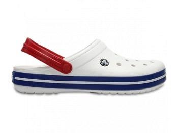 Crocs Crocband Clog white blue jean