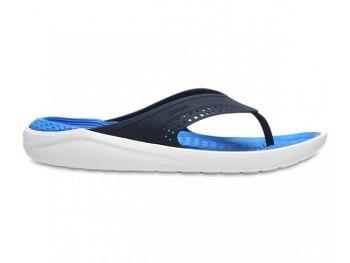 Crocs Lite Ride Flip navy white