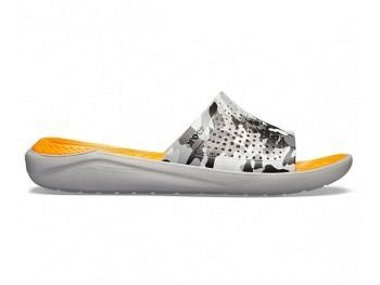 Crocs Lite Ride Graphic Slide camo light grey