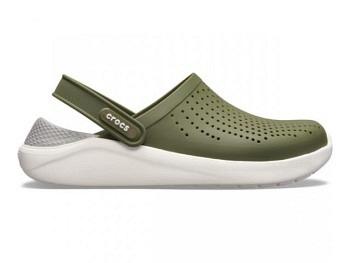 Crocs Lite Ride Clog army green white