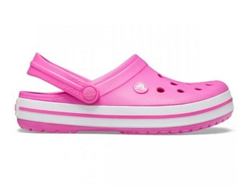 Crocs Crocband Clog electric pink white