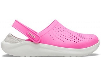 Crocs Lite Ride Clog electric pink almost white