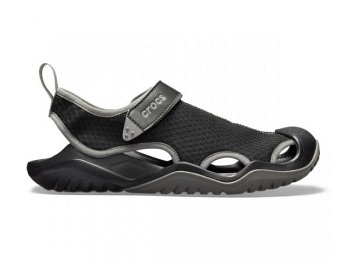 Crocs Mens Swiftwater Mesh Deck Sandal black