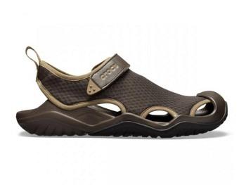 Crocs Mens Swiftwater Mesh Deck Sandal espresso