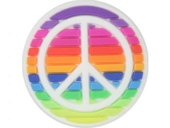 Jibbitz 000 Rainbow Peace Sign