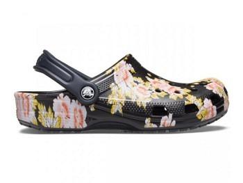 Crocs Classic Printed Floral Clog black floral