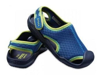 Crocs Kids Swiftwater Sandal blue jean navy