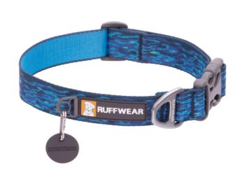 Ruffwear Flat out collar oceanic distortion
